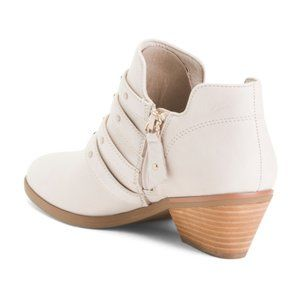 Dr. Scholl's Shoes - Dr. Scholl's Comfort Leather Booties With Buckles